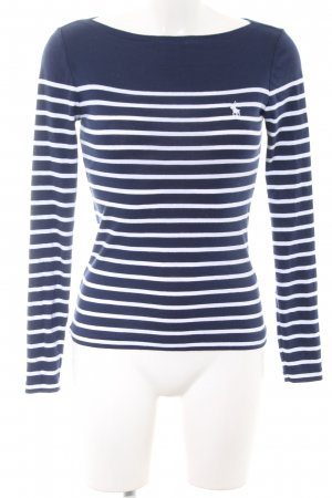 Polo Ralph Lauren Longsleeve blau-weiß Streifenmuster Casual-Look