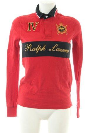 Polo Ralph Lauren Longsleeve schwarz-rot Motivdruck Casual-Look