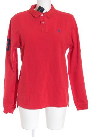 Polo Ralph Lauren Longsleeve rot-dunkelblau sportlicher Stil