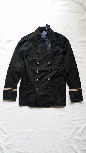 Polo Ralph Lauren, Marina Jacket, schwarz mit Goldknöpfen, Größe 32 (US 2), Baumwolle/Leinen, neu