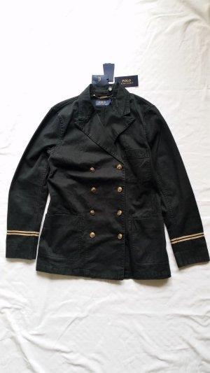 Polo Ralph Lauren, Marina Jacket, schwarz mit Goldknöpfen, Größe 40 (US 10), Baumwolle/Leinen, neu
