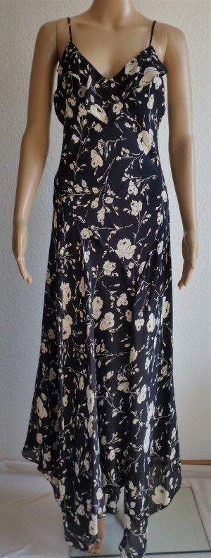 Polo Ralph Lauren, Maxi-Kleid, schwarz, geblümt, 40 (US 10), Seide, neu, € 500,-