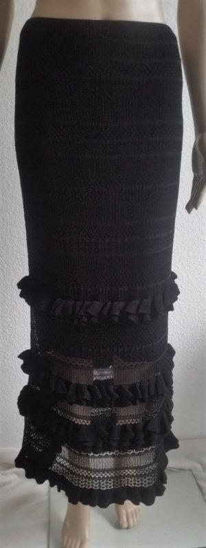 Polo Ralph Lauren, Maxi-Rock, schwarz, L, Viskose/Nylon, neu, € 650,-