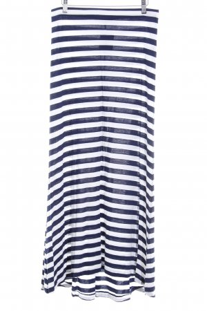 Polo Ralph Lauren Maxirock wollweiß-dunkelblau Streifenmuster Beach-Look