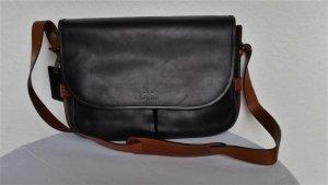 Polo Ralph Lauren Shoulder Bag black-cognac-coloured leather