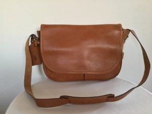 Polo Ralph Lauren, Messenger Bag, Rindsleder, cognac, neu