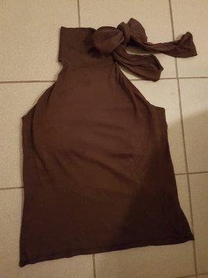 Polo Ralph Lauren Oberteil mit Seide und Schluppe / Schleife in braun, Größe XL