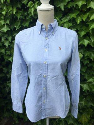 Polo Ralph Lauren Oxford Bluse blau Gr. 4 oder 34 XS
