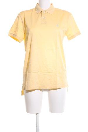 Polo Ralph Lauren Polo-Shirt blassgelb sportlicher Stil