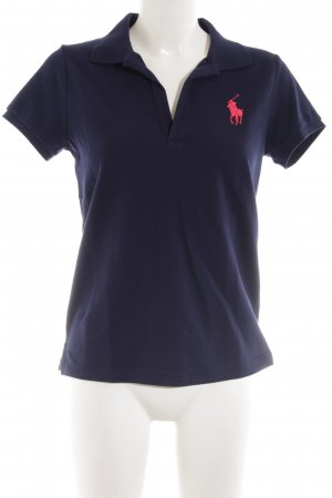 Polo Ralph Lauren Polo-Shirt blau-pink Casual-Look