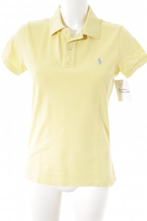 Polo Ralph Lauren Polo-Shirt blassgelb klassischer Stil