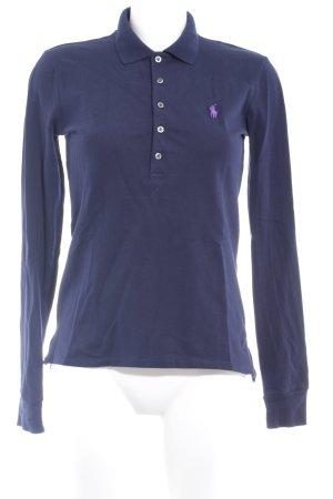 Polo Ralph Lauren Polo-Shirt dunkelblau-lila Casual-Look