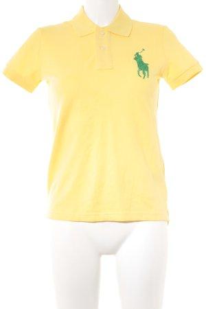 Polo Ralph Lauren Polo-Shirt gelb-grün klassischer Stil