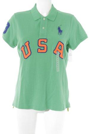 Polo Ralph Lauren Polo-Shirt grün Schriftzug gestickt Casual-Look