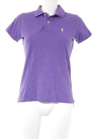 Polo Ralph Lauren Polo-Shirt lila-wiesengrün Casual-Look