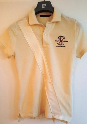 Polo Ralph Lauren Polo-Shirt mit Seiden-Schärpe und Logo, Gr. S