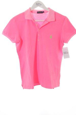 Polo Ralph Lauren Polo-Shirt neongrün-neonpink sportlicher Stil