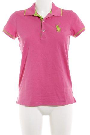 Polo Ralph Lauren Polo-Shirt neonpink-neongrün sportlicher Stil