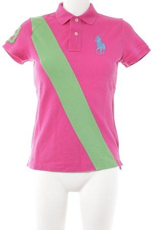 Polo Ralph Lauren Polo-Shirt pink-neongrün sportlicher Stil
