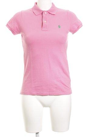 Polo Ralph Lauren Polo-Shirt rosa Webmuster Casual-Look