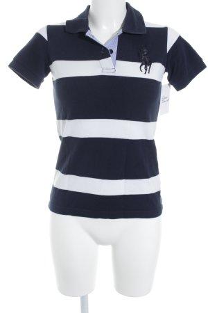 Polo Ralph Lauren Polo-Shirt weiß-dunkelblau Streifenmuster sportlicher Stil