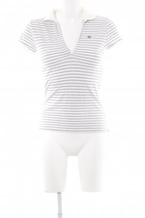 Polo Ralph Lauren Polo Shirt white-grey striped pattern casual look