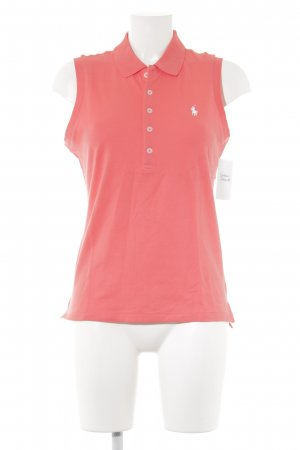 Polo Ralph Lauren Top Polo rouge-blanc style athlétique
