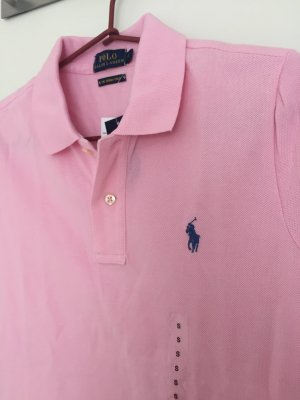 POLO RALPH LAUREN Poloshirt Gr. S Rosa Damen Shirt NEU skinny fit Kurzarm