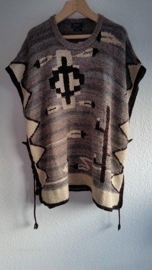 Polo Ralph Lauren, Poncho/Cape, M, beige-braun, hand knit, Alpaca/Seide/Leinen/Cotton/Cashmere, neu, € 650,-
