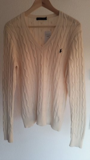 Polo Ralph Lauren Cable Sweater cream cotton