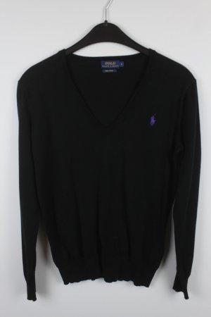 Polo Ralph Lauren Pullover Gr. S schwarz V-neck (18/7/259)