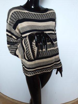 Polo Ralph Lauren Coarse Knitted Sweater black-oatmeal linen