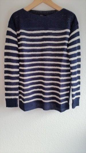 Polo Ralph Lauren, Pullover, navy-weiß gestreift, XS, Leinen, neu
