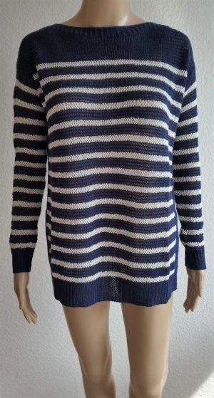 Polo Ralph Lauren, Pullover, XS, navy-weiß gestreift, Leinen, neu