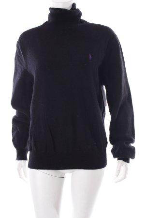 Polo Ralph Lauren Rollkragenpullover schwarz-lila schlichter Stil