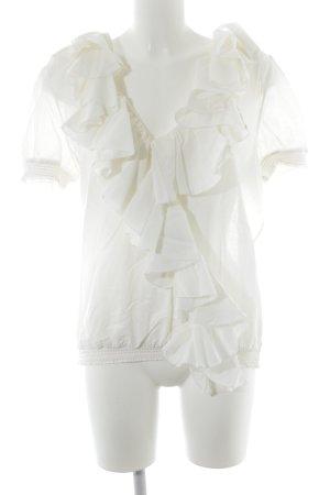 Polo Ralph Lauren Blouse à volants blanc cassé style décontracté
