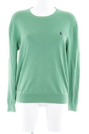 Polo Ralph Lauren Rundhalspullover grasgrün-dunkelblau Casual-Look