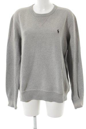 Polo Ralph Lauren Kraagloze sweater grijs straat-mode uitstraling