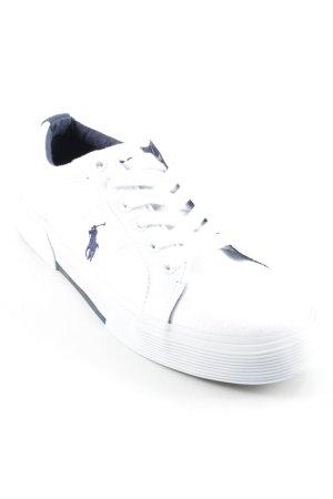 Polo Ralph Lauren Schnürsneaker weiß-dunkelblau klassischer Stil