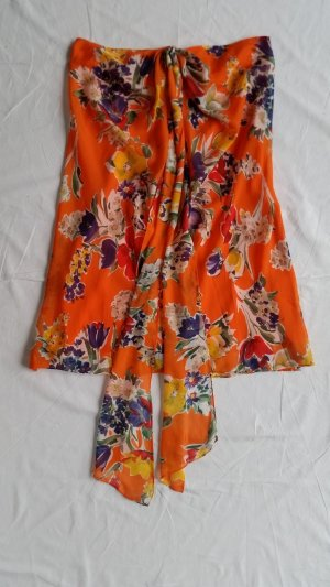 Polo Ralph Lauren, Seidenrock, orange, floral, 38 (US 8), neu, € 450,-