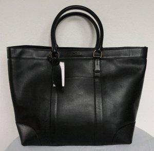 Polo Ralph Lauren Shopper noir cuir