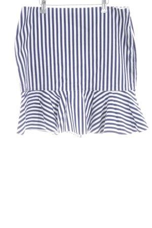 Polo Ralph Lauren Skaterrock weiß-blau Streifenmuster Elegant