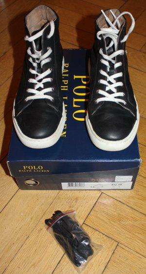 Polo Ralph Lauren Sneaker Leder schwarz weiß Gr. 39