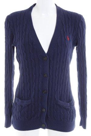 Polo Ralph Lauren Cardigan in maglia blu scuro modello web stile casual
