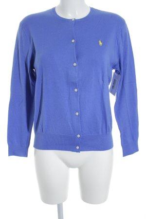 Polo Ralph Lauren Strickjacke stahlblau-gelb Casual-Look