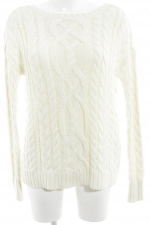 Polo Ralph Lauren Strickpullover creme Zopfmuster Casual-Look