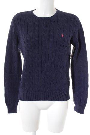 Polo Ralph Lauren Strickpullover dunkelblau-pink Casual-Look