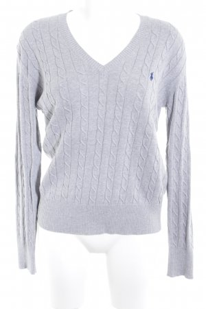 Polo Ralph Lauren Strickpullover grau Zopfmuster College-Look
