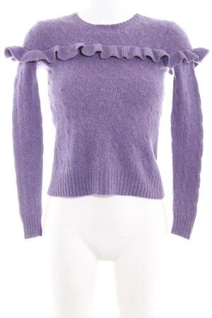 Polo Ralph Lauren Jersey de punto lila grisáceo punto trenzado look casual