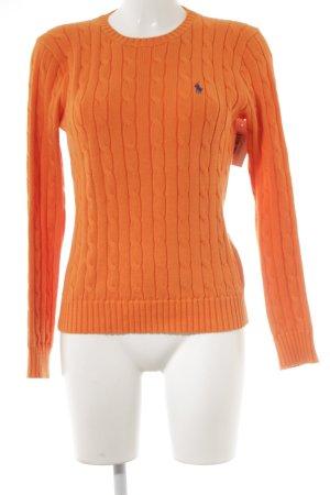 Polo Ralph Lauren Strickpullover orange- stahlblau meliert Casual-Look